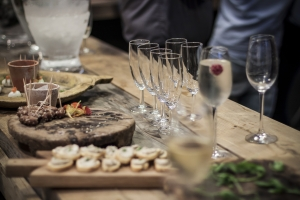Champagne & Canapes at the launch